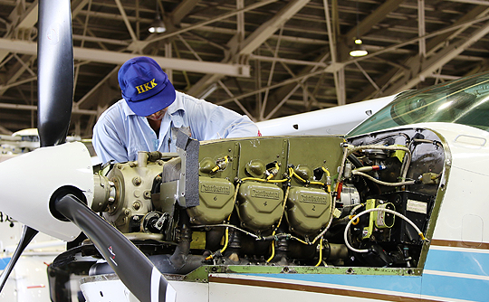 高品質な航空機整備